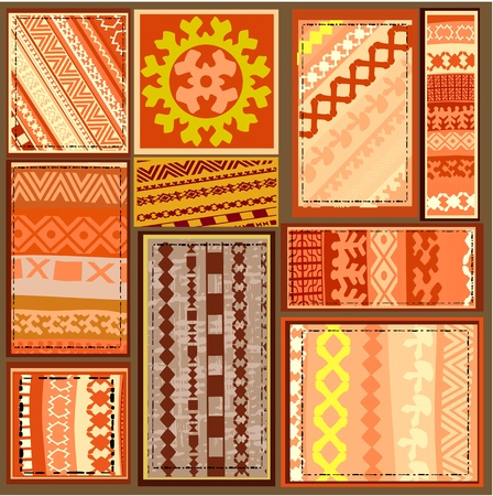 ethnic pattern of the northern Siberian peoples Vector