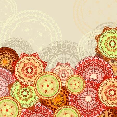 disegni cachemire: mandala sfondo