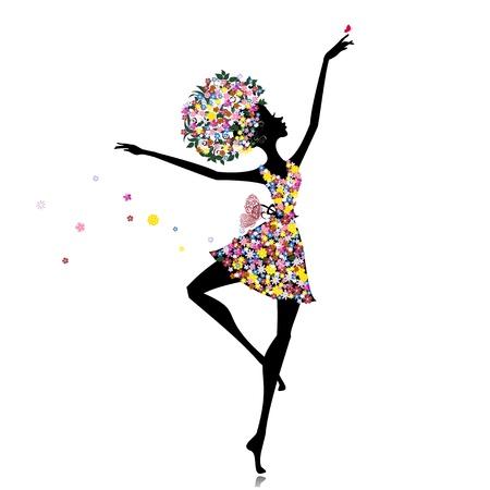 Flower girl ballerina Vector