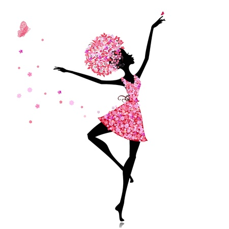 perform: Flower girl ballerina