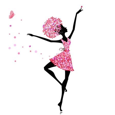 Kwiat dziewczyna balerina
