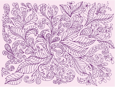 hand painted floral design Vector