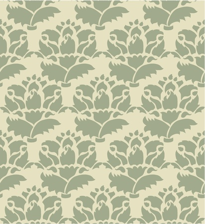 Vintage pattern background seamless Vector