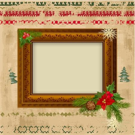 decorative Christmas frame design Vector