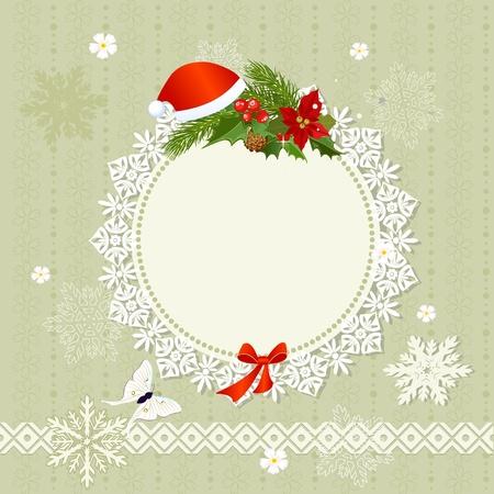 openwork: ornamental openwork Christmas Frame Illustration