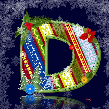 Winter letter with an ornament Vector