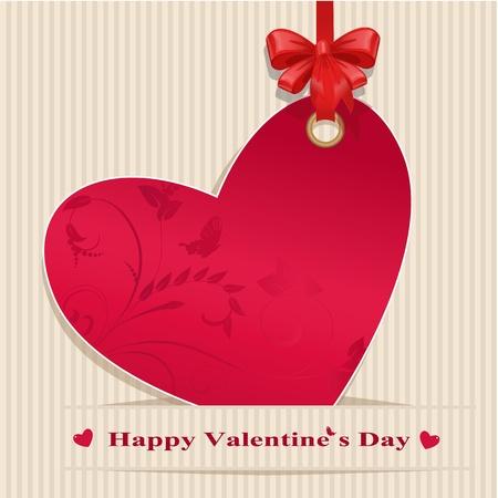 Paper valentine handmade Vector