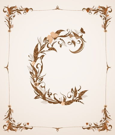 retro vintage letter in a frame Vector