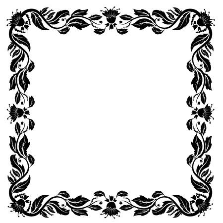 baroque border: vintage frame with foliage