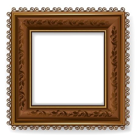 Retro vintage wooden frame Illustration