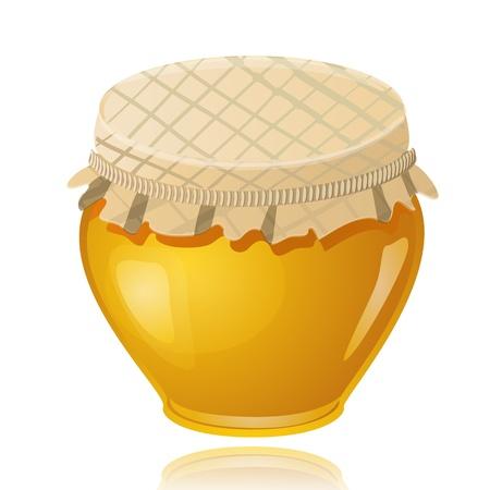 pot miel: pot de miel doux Illustration