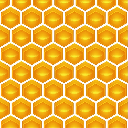 wax glossy: honeycomb Illustration