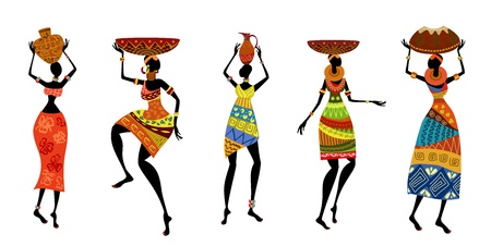 african women: African women in traditional dress
