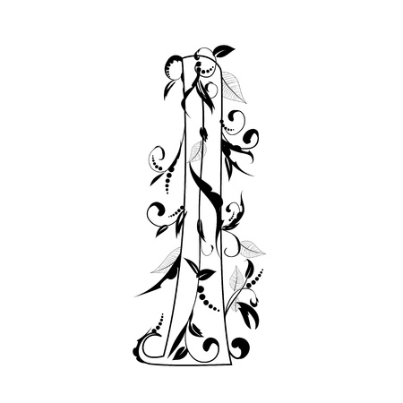 leaf curl: letter of the foliage Illustration