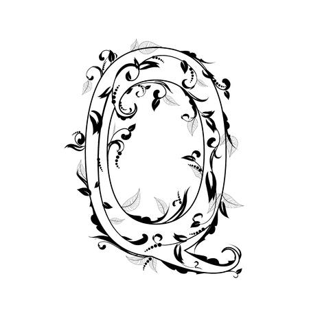 bonny: letter of the foliage Illustration