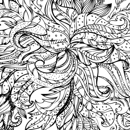 abstract drawing by hand Vector