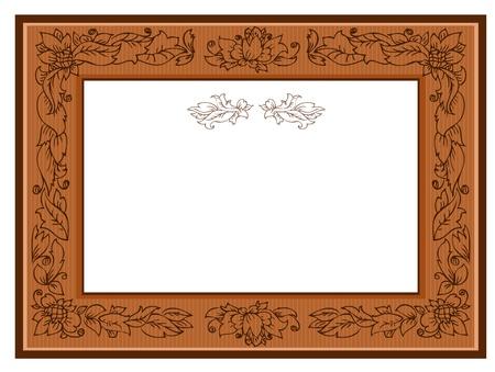 foliate: frame with foliate ornament doodles