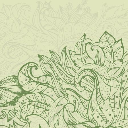 foliate ornament doodles Vector