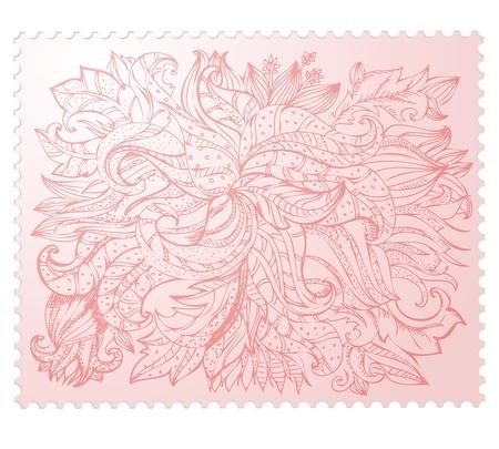 to foliate: foliate ornament doodles Illustration