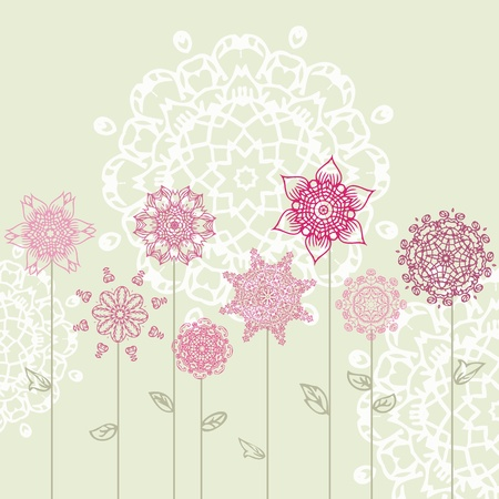 floral design with arabesques Vector