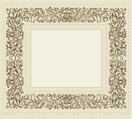 vintage frame with floral ornament Stock Vector - 12748984