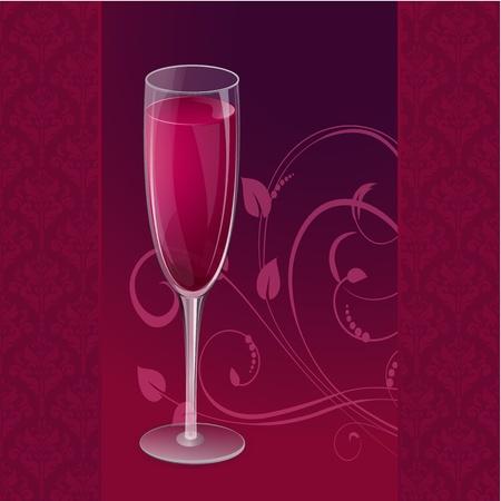 red wine glass: glass of wine