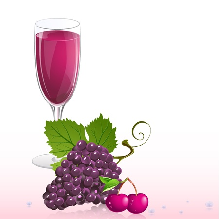 grape juice: glass of wine with fruit