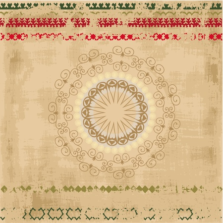 ethnic pattern grunge background Vector