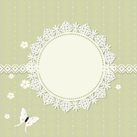 romantic frame design Vector