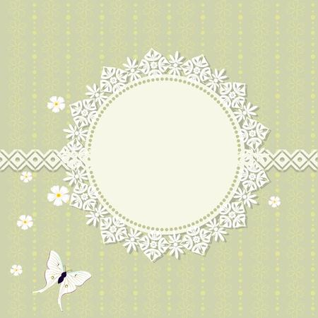 romantic frame design Stock Vector - 13401753