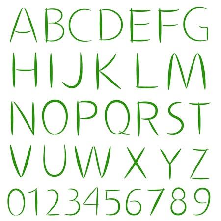 elegant simple font Stock Vector - 13401763