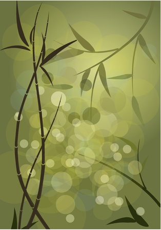 grass silhouette: background bamboo thickets Illustration