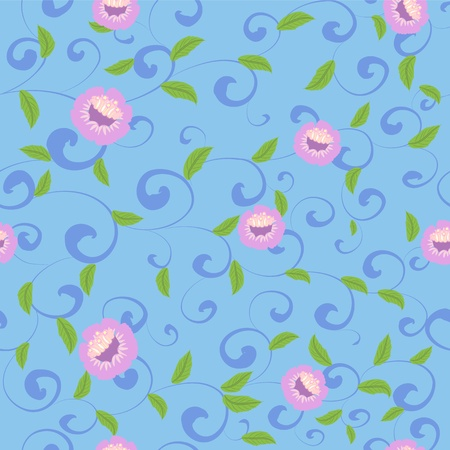 Chinese floral background seamless Vector