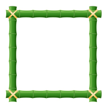 bamboo border: bamboo frame Illustration