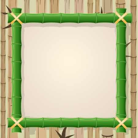 bamboo leaves: frame made of bamboo