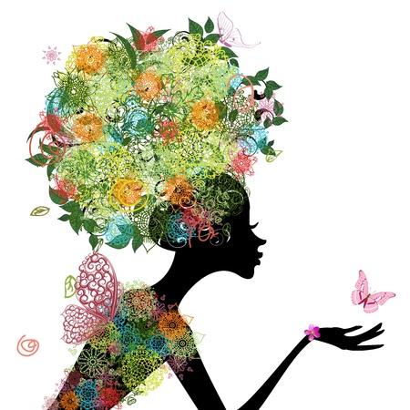 arabesque: Fashion girl con arabesque capelli