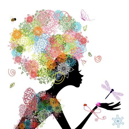 arabesco: Moda joven con arabescos del pelo