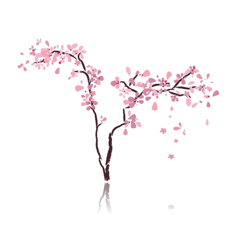 sakura flowers: cherry tree Illustration