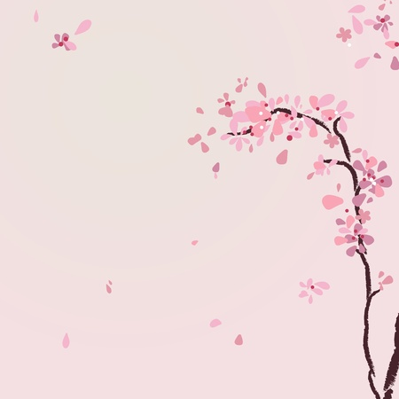 Mountain cherry tree Vector