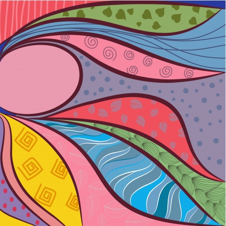 background of the quilt Vector