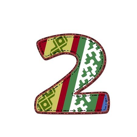 number border: number pattern of tissue