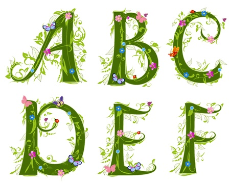 alphabet: letter of the foliage Illustration