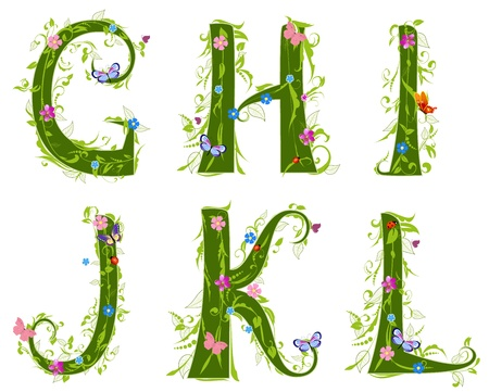capital letter: letter of the foliage Illustration