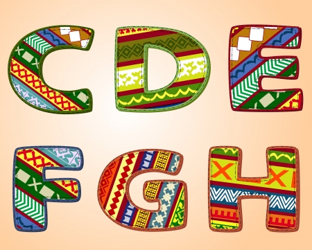 letters of fabric designs