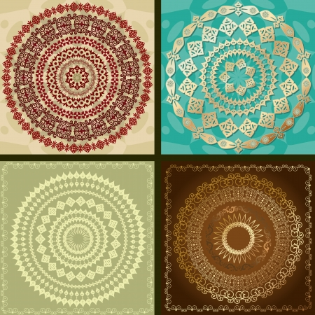 set of arabesque design pattern Vector