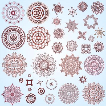 patron islamico: conjunto de elementos de dise�o