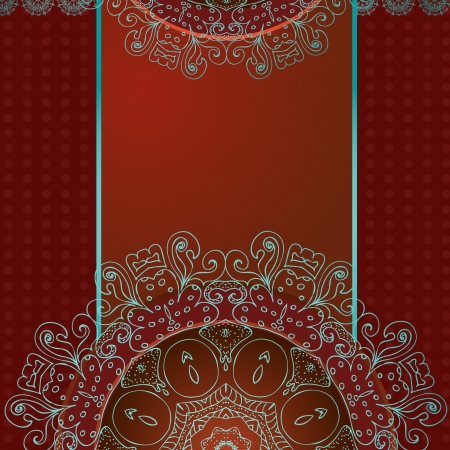 Design an abstract pattern with arabesques Vector