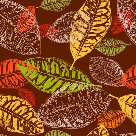 seamless background autumn leaves Vector