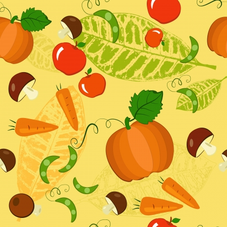 seamless background autumn Vector