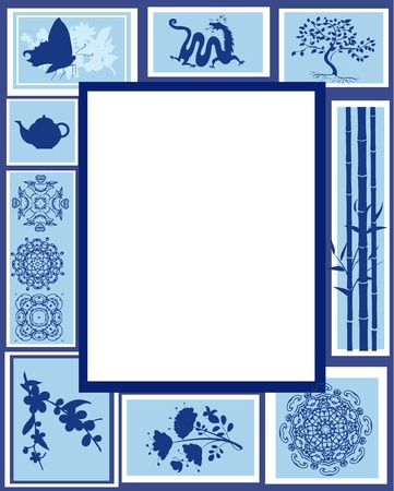 Design of the frame of the Chinese characters